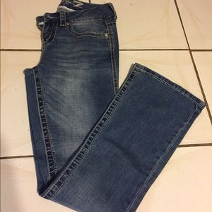 Seven7 Boot Cut Flare with Sequins Jeans Size 4